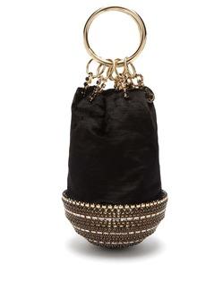 Rosantica By Michela Panero Ghizlan crystal-base velvet clutch bag