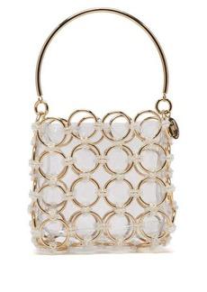 Rosantica Joplin beaded metal-ring clutch bag