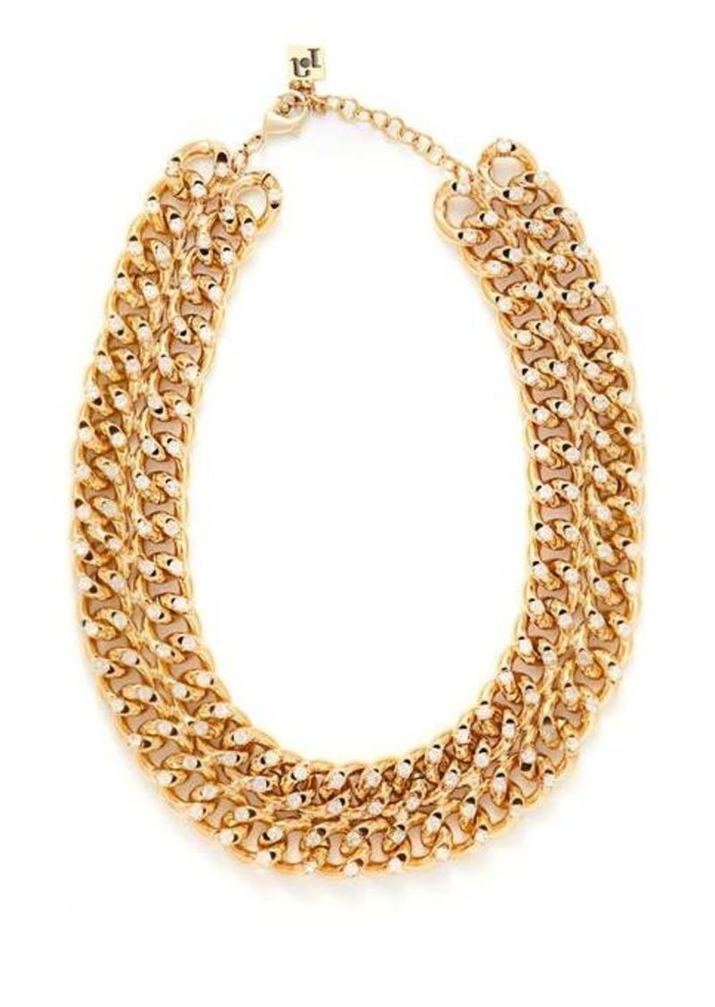 Rosantica By Michela Panero Liberta crystal-chain choker necklace
