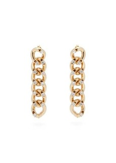 Rosantica By Michela Panero Liberta crystal-embellished drop earrings