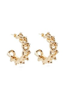 Rosantica By Michela Panero Liberta crystal-embellished hoop earrings