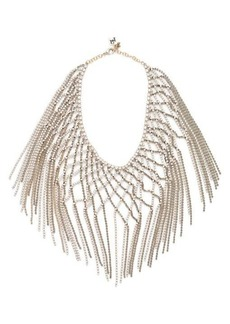 Rosantica By Michela Panero Oasis crystal-embellished lattice necklace