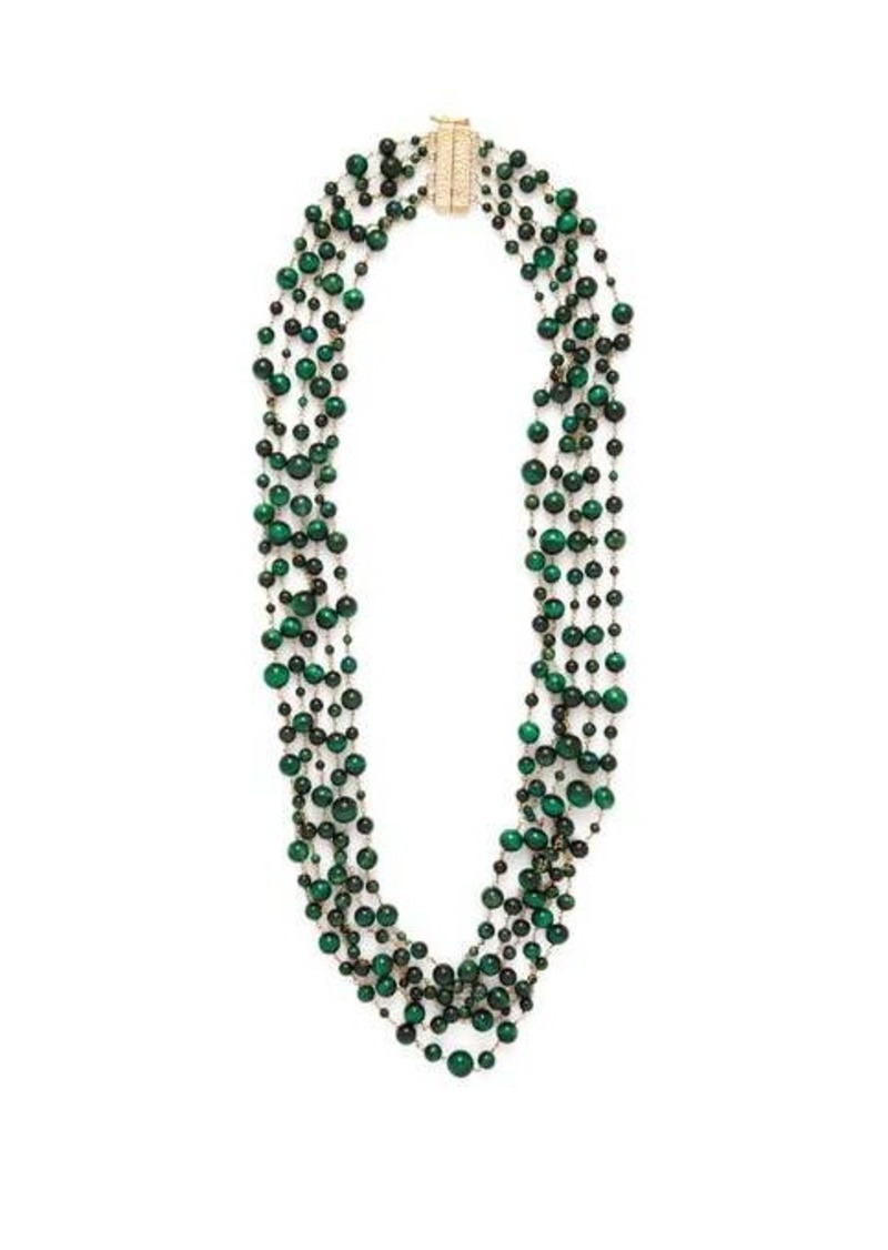 Rosantica By Michela Panero Pegaso beaded quartz necklace