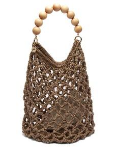 Rosantica By Michela Panero Polaris beaded-handle woven shoulder bag