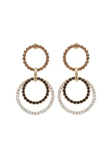 Rosantica By Michela Panero Rock crystal-embellished hoop earrings