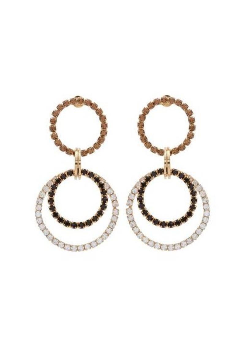 Rosantica By Michela Panero Rock crystal-embellished hoop earrings