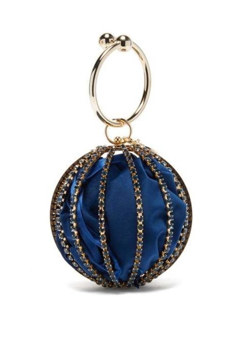Rosantica Sasha crystal-embellished cage-frame clutch