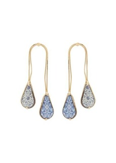 Rosantica Sicilia double-drop ceramic-stone earrings