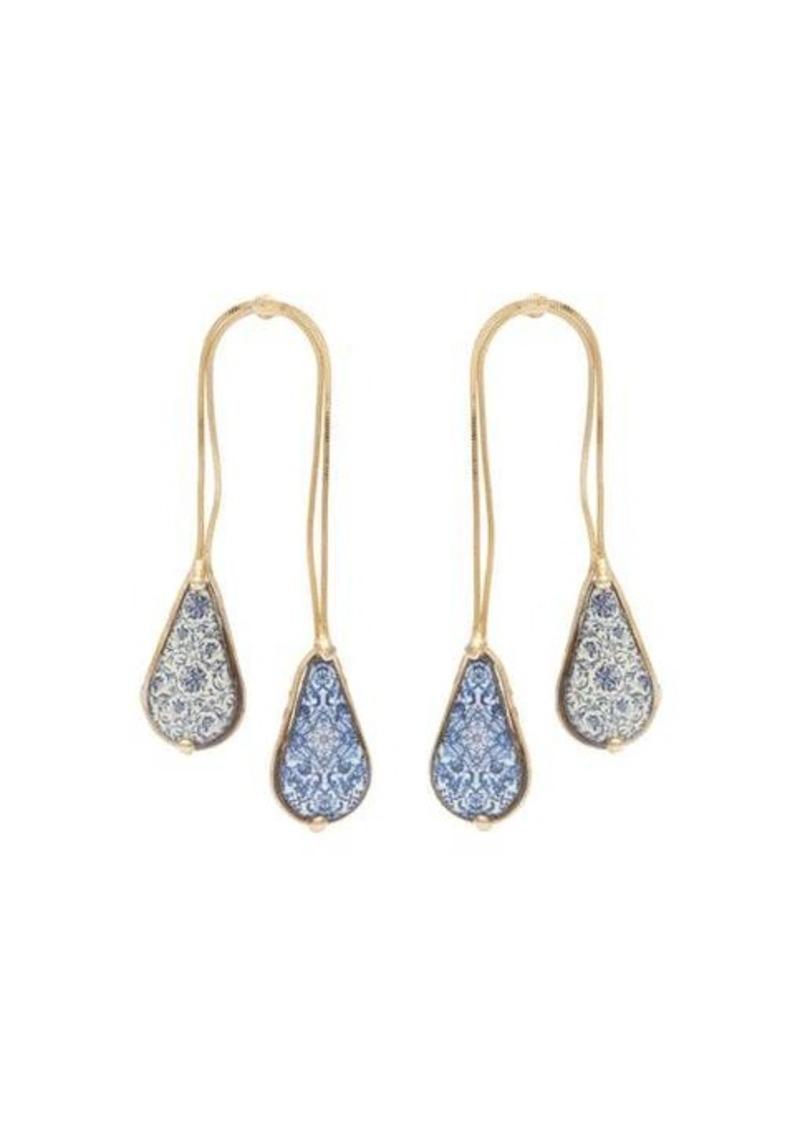 Rosantica By Michela Panero Sicilia double-drop ceramic-stone earrings