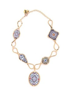 Rosantica By Michela Panero Sicilia multi-tile pendant necklace