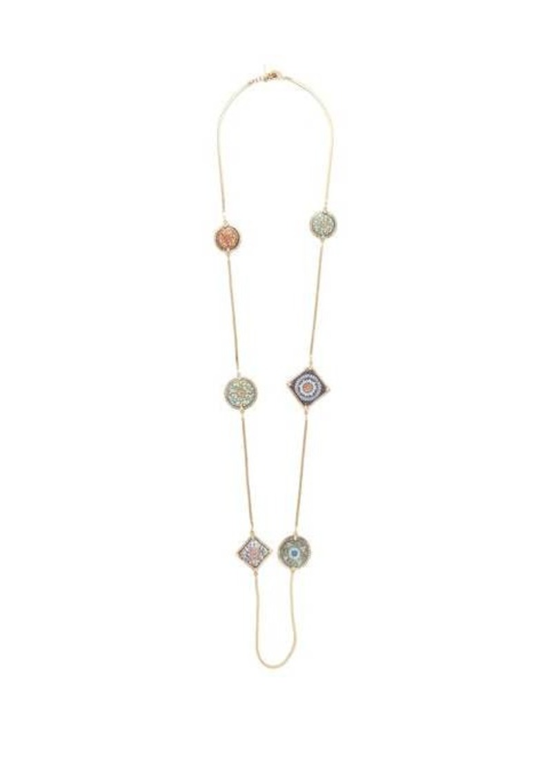 Rosantica By Michela Panero Sicilia tile-charm necklace