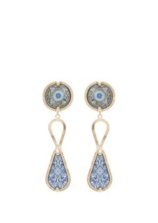 Rosantica By Michela Panero Sicilia tile-pendant clip earrings