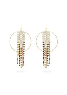Rosantica By Michela Panero Sublime crystal-embellished tassel hoop earrings
