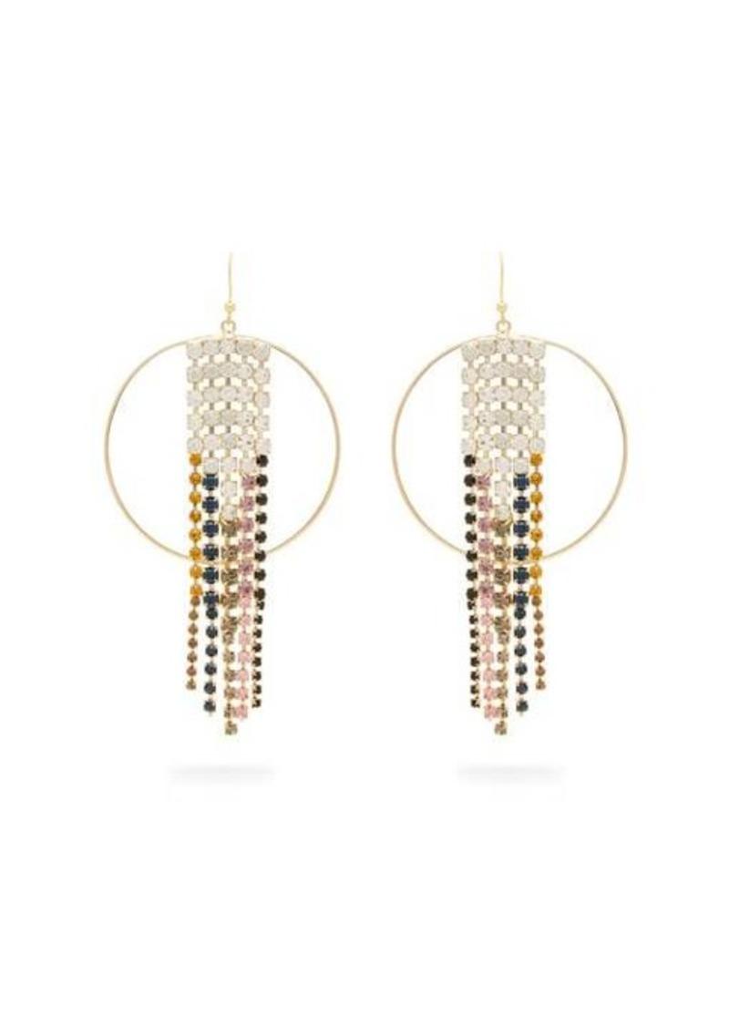 Rosantica By Michela Panero Sublime crystal-embellished tassel hoop earrings