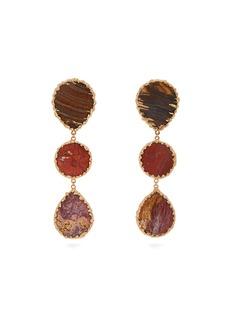 Rosantica By Michela Panero Wallace triple agate-drop earrings