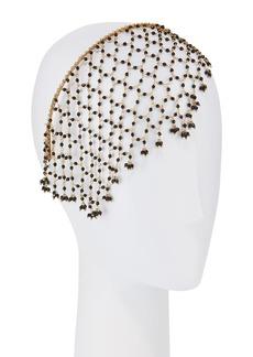 Rosantica Carmen Brass & Onyx Veiled Headband