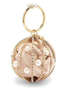 Rosantica Chloe faux pearl and crystal-embellished bag