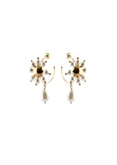 Rosantica Daisy Faux Pearl Hoop Earrings