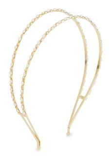 Rosantica Dolcezza Double Brass Headband w/ Pearl Details