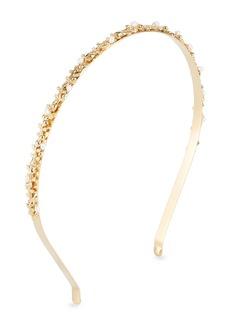 Rosantica Fata Brass Vine Headband w/ Pearl Details