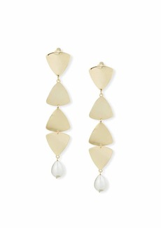 Rosantica Gelo Pearl & Crystal Clip-On Dangle Earrings