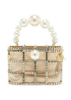 Rosantica Holli crystal-embellished cage clutch bag