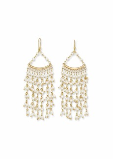 Rosantica Pearl Fringe Drop Earrings