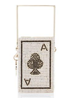 Rosantica Poker Crystal-Embellished Brass Mini Top Handle Bag