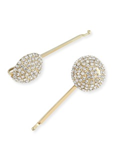 Rosantica Strobo Crystal Embellished Brass Bobby Pins  Set of 2