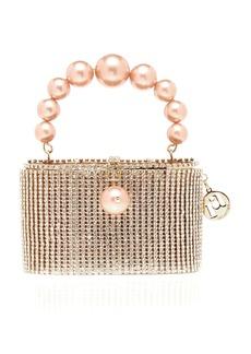 Rosantica Super Holli Crystal And Pearl-Embellished Gold-Tone Top Handle Bag