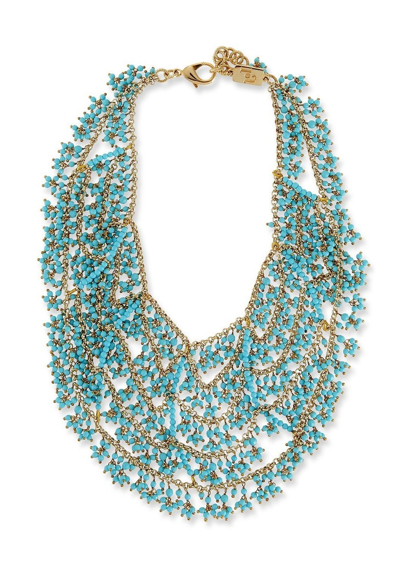 Rosantica Turquoise Bib Necklace