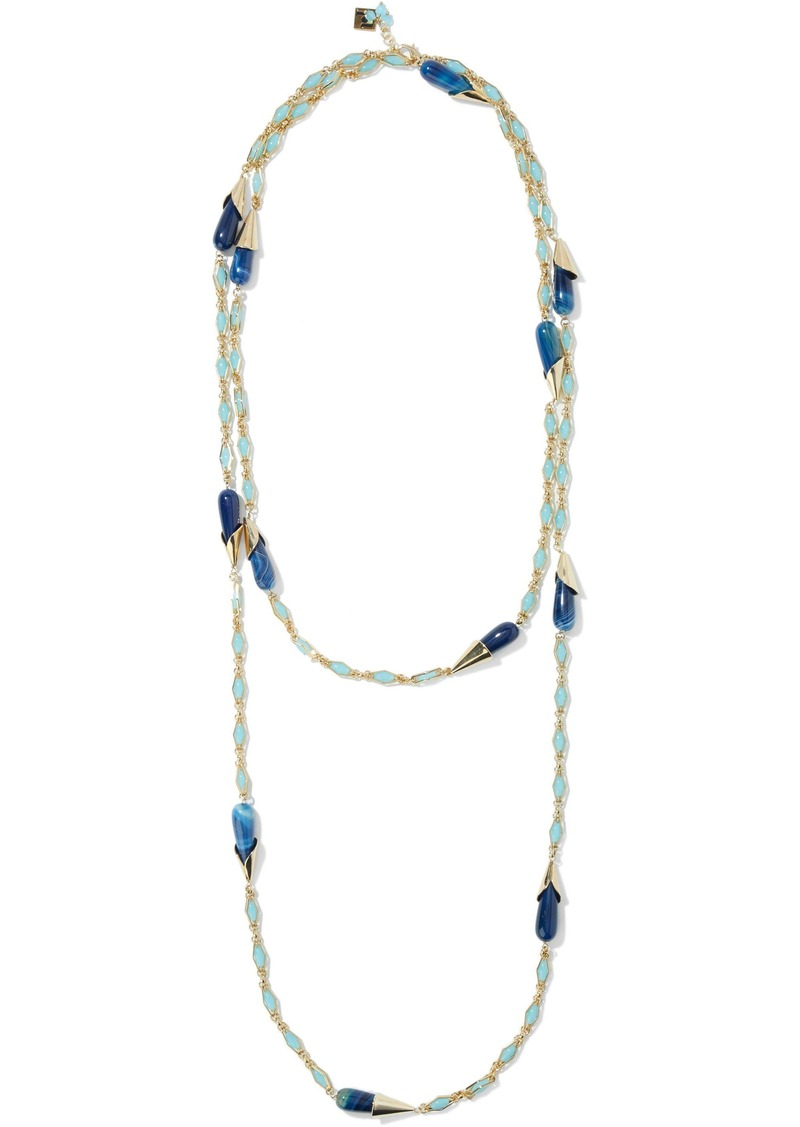 Rosantica Woman Bellini Gold-tone Stone Necklace Blue