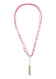 Rosantica Woman Corallo Gold-tone Bead And Tassel Necklace Gold
