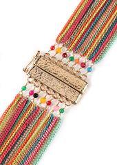 Rosantica Woman Cosmopolitan Coated Gold-tone Bead Necklace Multicolor