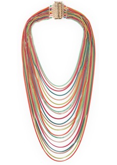 Rosantica Woman Cosmopolitan Coated Gold-tone Bead Necklace Multicolor
