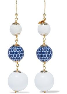 Rosantica Woman Crans Gold-tone Beaded Earrings White