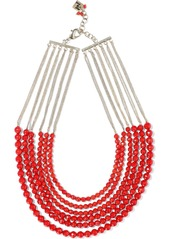 Rosantica Woman Curry Gold-tone Beaded Necklace Red