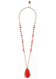 Rosantica Woman Gold-tone Bead And Stone Necklace Claret