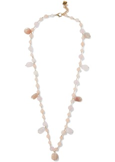 Rosantica Woman Verbier Gold-tone Quartz Necklace Blush