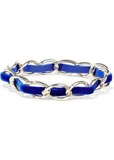 Rosantica Woman Gold-tone Velvet Bracelet Blue