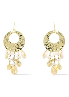 Rosantica Woman Hammered Gold-tone Faux Shell Earrings Gold