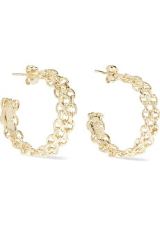 Rosantica Woman Lavanda Gold-tone Hoop Earrings Gold