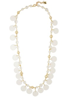 Rosantica Woman Limpido Gold-tone Beaded Necklace Gold