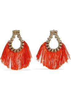 Rosantica Woman Livigno Gold-tone Cord Earrings Orange