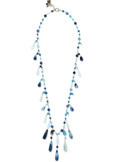 Rosantica Woman Menta Gold-tone Bead Necklace Blue