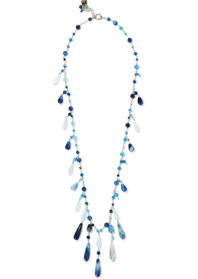 Rosantica Woman Menta Gold-tone Bead Necklace Blue