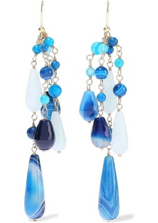 Rosantica Woman Menta Gold-tone Beaded Earrings Blue