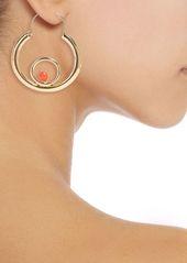 Rosantica Woman Passato Gold-tone Quartz Hoop Earrings Fuchsia