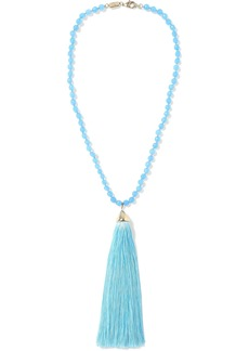 Rosantica Woman Platea Gold-tone Quartz And Tassel Necklace Azure