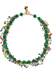 Rosantica Woman Rossini Gold-tone Bead Necklace Emerald